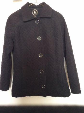 Abrigo negro Polo club